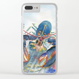Under The Sea 2 - Lobster Clear iPhone Case