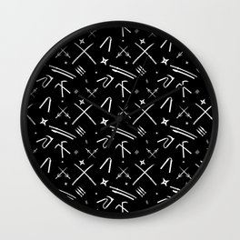 Ninja Weapons Wall Clock