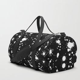 Black and White Splatter Duffle Bag