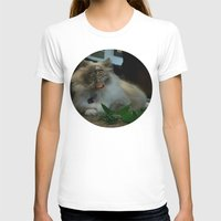 nicolas cage T-shirts featuring Nicolas Cage Cat Wants Nip by HiddenStash Art