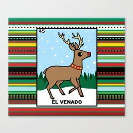 Christmas Loteria El Venado Canvas Print