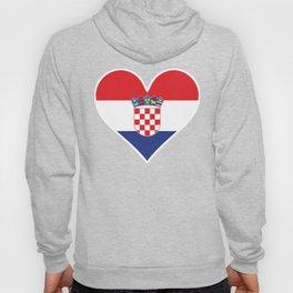 Croatian Flag Heart Hoody