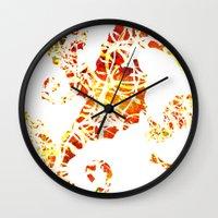 sea horse Wall Clocks featuring Sea-Horse by LIGHTNING9