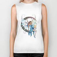 fairy Biker Tanks featuring Fairy by clayscence