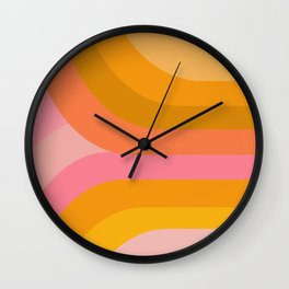 Retro Rainbow 89 Wall Clock