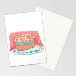 Happy Birthday Cake Stationery Cards