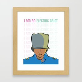 I Am An Electric Griot: Icon Framed Art Print