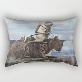The Dragon Hunter Rectangular Pillow