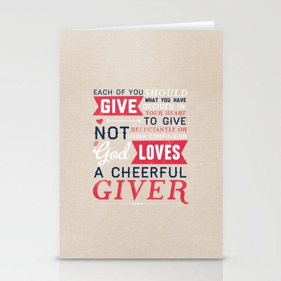 2 Corinthians 9:7 Stationery Cards