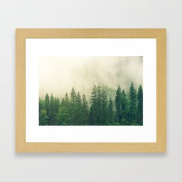 Green Foggy Rocky Mountains Colorado USA Adventure Framed Art Print