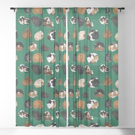 Coonhound Curl Sheer Curtain