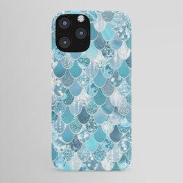 Mermaid Art, Cute Teal and Aqua, Fun Bathroom Art iPhone Case