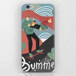 Summer skateboarding iPhone Skin
