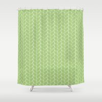 leaf Shower Curtains featuring Leaf by Aelwen