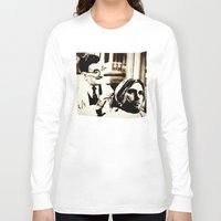 kurt rahn Long Sleeve T-shirts featuring Kurt & Floyd  |  Grunge Collage by Silvio Ledbetter