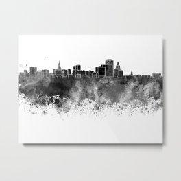 Hartford skyline in black watercolor on white background Metal Print
