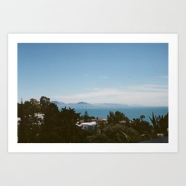 "The view from the garden at ""La Maison du Baron d'Erlanger"", Sidi Bou Saïd, Tunisia Art Print"