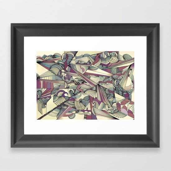 When my Mind Goes Boom. Framed Art Print