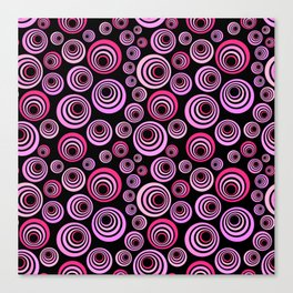 Pink and Purple Psychedelic Retro Pattern Canvas Print