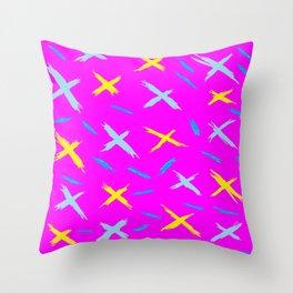 Pink cross over Throw Pillow