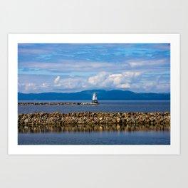 Lake Champlain. Burlington. Vermont. USA. Art Print
