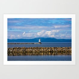 Lake Champlain. Burlington. Vermont. USA. Art Print