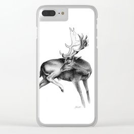 Fallow Deer Stag Clear iPhone Case