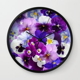 Carpet of flowers 3. Wall Clock