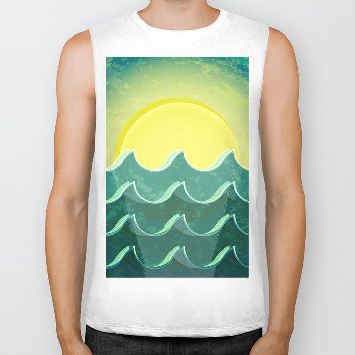 Sun and sea Biker Tank