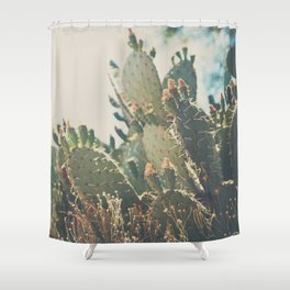 desert prickly pear cactus ... Shower Curtain