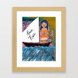 Live Free Island Girl Framed Art Print