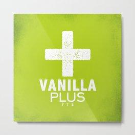 Vanilla + Metal Print