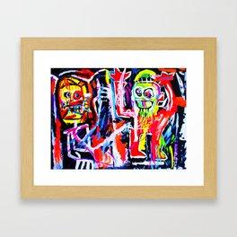 Basquiat's Dustheads Framed Art Print