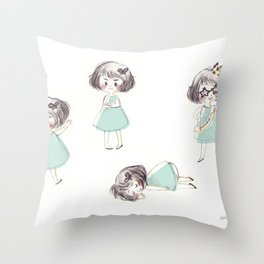Funny child Throw Pillow
