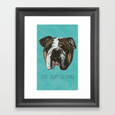 English Bulldog Print Framed Art Print