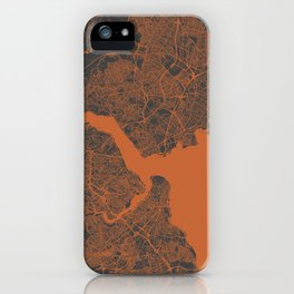 Istanbul Map iPhone Case