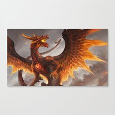 Red Crystal Dragon Canvas Print