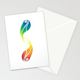 Abstract Rainbow Swirl Stationery Cards