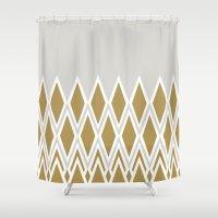 crown Shower Curtains featuring crown by lorelei art design