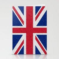 british flag Stationery Cards featuring British flag mosaic by Zora Zora