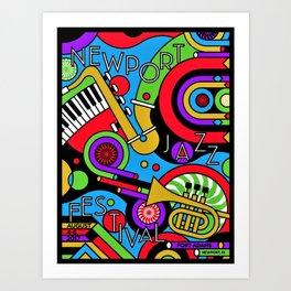 Vintage 2017 Newport, RI Jazz Festival - Fort Adams - Lithograph Advertisement Poster Art Print