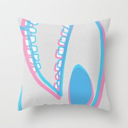 WIT monster head Throw Pillow