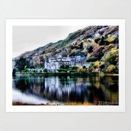 A Castle in Reflection Art Print