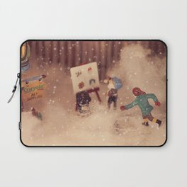 Snowstorm in Christmasland Laptop Sleeve