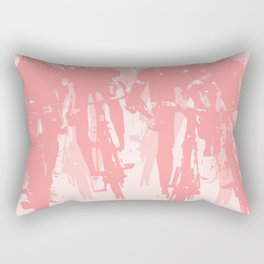 Cyclists in the sprint pink Rectangular Pillow