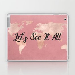 Lets See It All - Rosegold World Map Laptop & iPad Skin