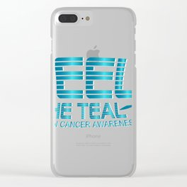 Ovarian Cancer Awareness Clear iPhone Case