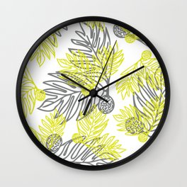 Ulu Forest Green and Grey Wall Clock