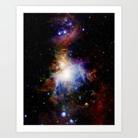 nebula Art Prints featuring Orion NebulA Colorful Full Image by 2sweet4words Designs