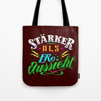 sansa stark Tote Bags featuring Stark! by VQ-Art